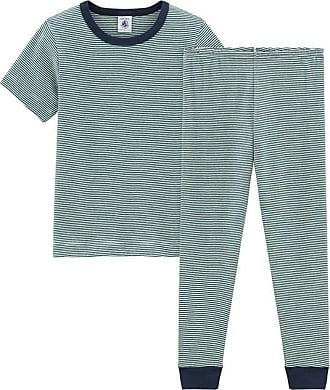 6c815f8c30437 Petit Bateau Pyjama à manches courtes petit garçon en côte