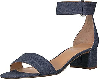 Franco Sarto Womens Rosalina Heeled Sandal, Denim, 5.5 M US