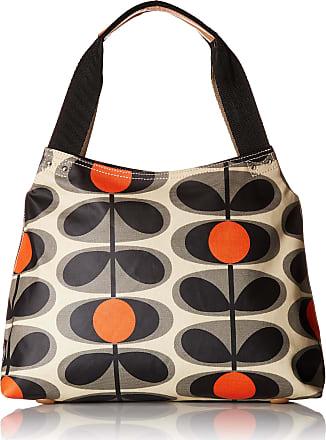 Orla Kiely Classic Zip Shoulder Bag, Granite