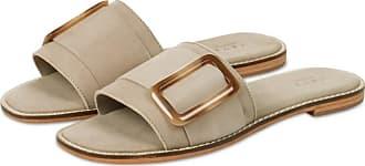 YaYa Ledersandalen mit Schnalle im Sand - beige | suede leather | 40 (6,5 UK) - Beige
