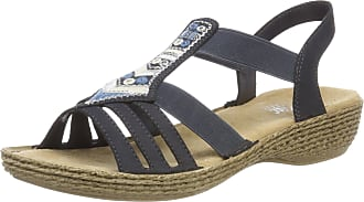 Rieker Womens 65807 Closed Toe Sandals, Blue Pacific, 3.5 UK