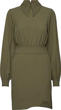 Ganni Heavy Crepe Mini Dress Kort Klänning Grön Ganni