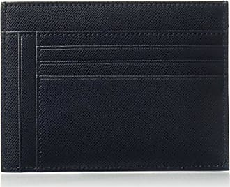 Bugatchi Mens Leather Zip Card Case