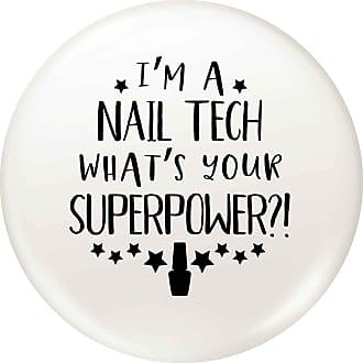 Flox Creative 45mm Pin Badge Im a Nail Tech Whats Your Superpower