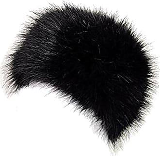 TOSKATOK Ladies Womens Glamorous Faux Fur Russian Cossack HAT-Black