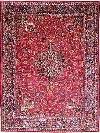 Nain Trading 386x291 Tappeto Mashhad Rosso/Ruggine (Lana, Persia/Iran, Annodato a mano)