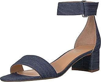 Franco Sarto Womens Rosalina Heeled Sandal, Denim, 6 M US