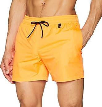 34ae442765 HOM Sunlight Beach Boxer Short Homme,Orange (Orange Fluo 00jx), X-