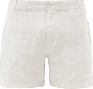Onia Moe Linen-poplin Shorts - Mens - Grey
