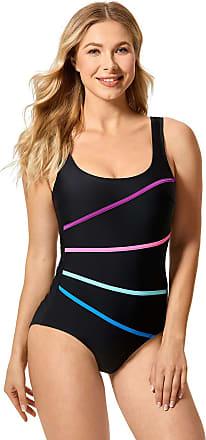Delimira Womens One Piece Sexy Slimming Swimsuit Beachwear Swimwear Black 12