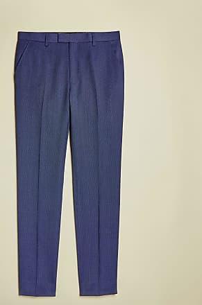 Ted Baker Sterling Birdseye Wool Trousers in Blue REGGIET, Mens Clothing