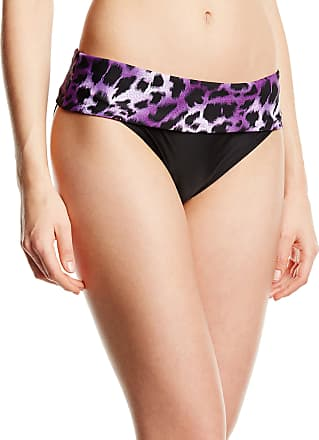 Panache Womens Tallulah Bikini Bottoms, Purple Animal, Size 12