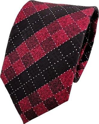 TigerTie Lurex Seidenkrawatte schwarz silber Paisley Designer Krawatte Seide