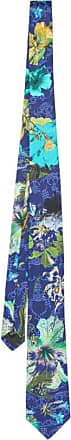 Vivienne Westwood Mens Tie - Made In Italy (Blue Floral Scribble Orb, 7cm)