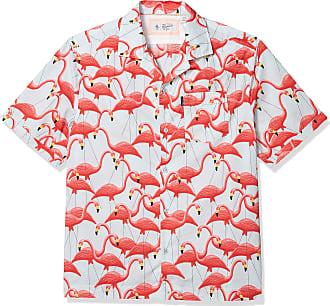 Original Penguin Mens Short Sleeve Camp Collar Button Down Shirt, Ballad Blue, Medium