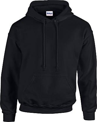 Undercover GILDAN Mens Heavy Blend Hooded Sweat Hoodie, Black (Black Black), Large (Size:Large)