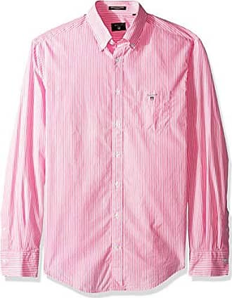 f751d3be69 GANT Mens The Broadcloth Banker Stripe Regular Fit Button Down Shirt,  Pastel Pink, L