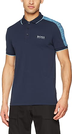 BOSS Mens Paule Pro Polo Shirt, Blue (Navy 410), Medium