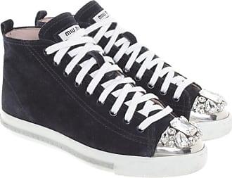 Miu Miu gebraucht - Sneakers mit Schmucksteinen - EU 37 - Damen - Blau -  Wildleder 456a61e44b
