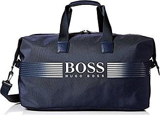 HUGO BOSS BOSS Green Mens Pixel Nylon Holdall Weekender Bag, blue