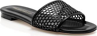Tamara Mellon Glide Black Capretto Sandals, Size - 35.5