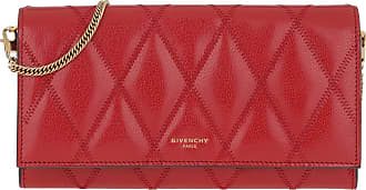 Givenchy Cross Body Bags - GV3 Wallet On Chain Leather Red Vermillon - red - Cross Body Bags for ladies