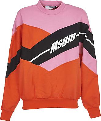Felpa Colorblock Con Stampa Macro Logo da Uomo MSGM   Biffi