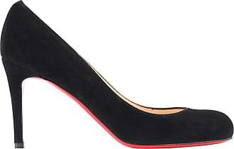 ebf5c58338a7 Christian Louboutin simple Pump 85 Black Suede Leather Classic Pump Heels  Nib