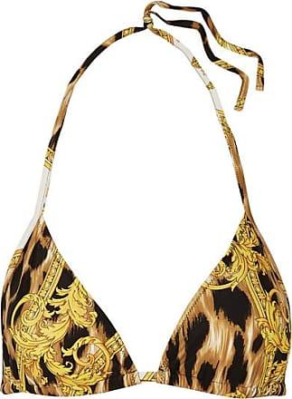43548bbb3026f6 Versace Bedrucktes Triangel-bikini-oberteil - Schwarz