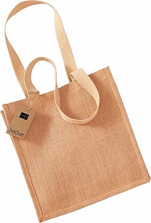Westford Mill Womens Adults Jute Compact Tote Bag Natural One Size