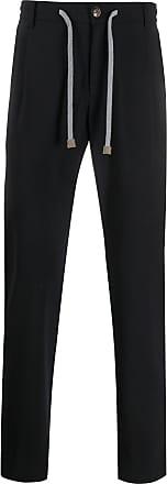 Eleventy tailored drawstring waist trousers - Blue