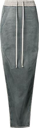Rick Owens Saia jeans Hustler - Azul