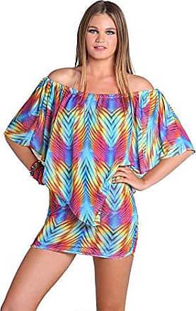 Luli Fama Womens Playa Verano Party Dress Three-Way Cover Up, Multi, Small
