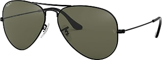 Ray-Ban Ray Ban RB 3025 Black 002/58 Unisex Polarized Aviator Sunglasses 62mm
