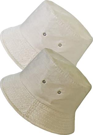 TOSKATOK UPF 50+ Unisex Mens Womens Reversible Cotton Blend Summer Bucket/Bush Hats-Sand/Stone