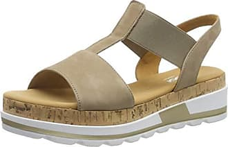 Gabor Shoes Damen Rollingsoft Riemchensandalen, Beige