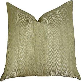 Plutus Brands Plutus Delicate Waves Handmade Throw Pillow 12 x 25 Taupe