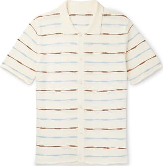 Jacquemus Slim-fit Striped Knitted Linen Shirt - Off-white