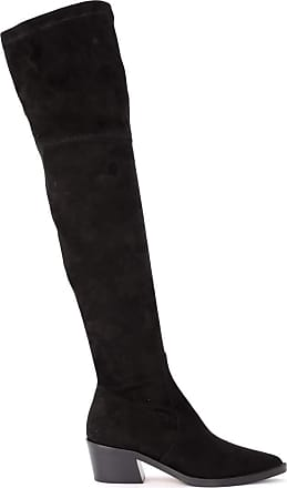 Via Roma 15 High Boot Made of Black Suede