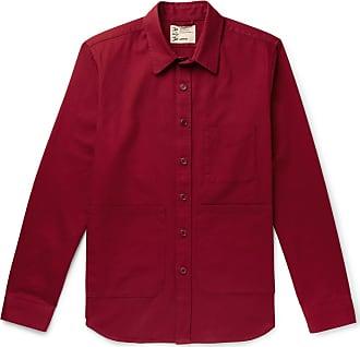 Aspesi Garment-dyed Cotton-twill Overshirt - Red