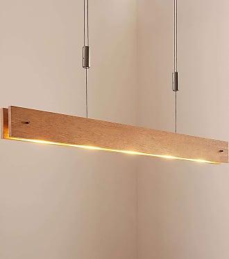 Lucande Lámpara colgante LED Karinja atenuador, natural