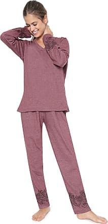 Pzama Pijama Pzama Estampado Vinho