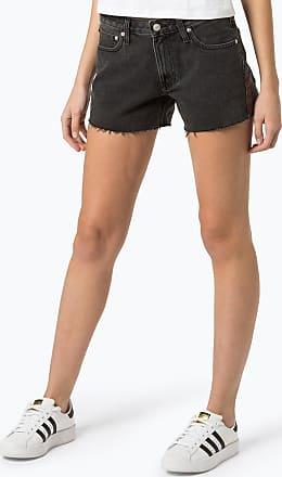 Calvin Klein Jeans Damen Jeansshorts grau