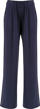 Uma Calça pantalona Standart - Azul