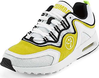 Zumba Athletic Air Classic Gym Fitness Sneakers Dance Workout Shoes for Women, Yellow, 5