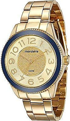 Mondaine Relógio Catraca Azul Dourado 76697LPMVDE3