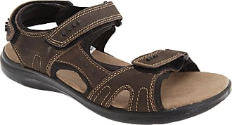 Roamers Mens 3 Touch Fastening Padded Sports Sandals (11 UK) (Brown)