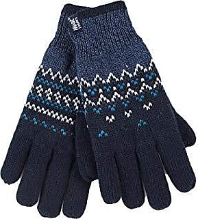 HEAT HOLDERS Damen winter bunt fleece gestrickt strick f/äustlinge handschuhe mit innenfutter