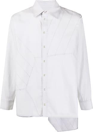 Koché Camisa oversized Hexagone - Cinza