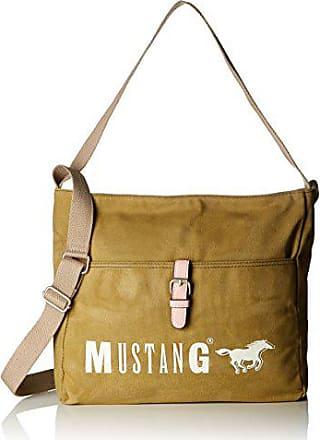 02258909a Mustang Wayne Jacky Hobo Mvz, Bolsos totes Mujer, Verde (Khaki), 10x30x30